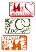 Marriage stamps — Stock Vector