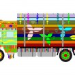 Stock Vector: Indian truck