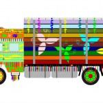 Indian truck — Stock Vector #27884951