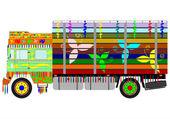 Indian truck — Stock Vector