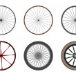 Wheels set — Stock Vector