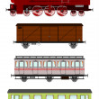 Retro train — Stock Vector