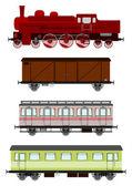 Retro train — Stock Vector