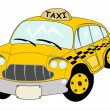 Cartoon yellow cab — Stock Vector