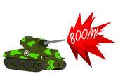 Cartoon tank — Stock Vector