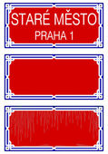 Prague street plates — Stock Vector
