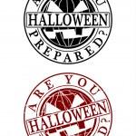 Halloween Rubber Stamp — Stock Vector
