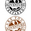 Stock Vector: Adventure stamp