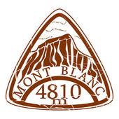 Mont Blanc-Stempel — Stockvektor