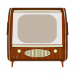 Vintage tv — Stock Vector