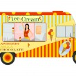 Ice cream van — Stock Vector