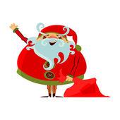 Cartoon Santa Claus — Stock Vector