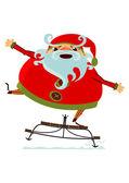 Santa Claus on sledge — Stock Vector