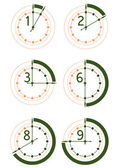 Hours icon set — Stock Vector