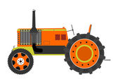 Retro tractor — Stock Vector