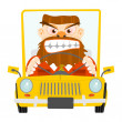 Road rage — Stock Vector