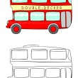 Stock Vector: Double decker