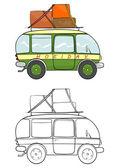Minivan — Stock Vector