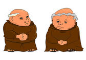 Monks — Stockvektor