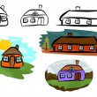 Houses — Stock Vector