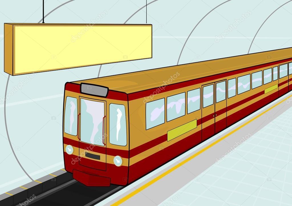 underground train stock vector  u00a9 norsob 42815471 train station clipart black and white Train Clip Art