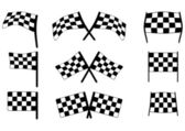 Racing flags — Stock Vector