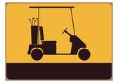 Golf cart — Wektor stockowy