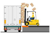 Fork lift truck — Stock Vector