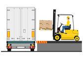 Fork lift truck — Stock Vector