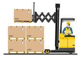 Forklift truck — Stock Vector