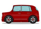 Kırmızı araba — Stok Vektör