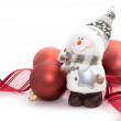 Stock Photo: Snowmand Christmas balls