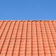 Stock Photo: Red tile roof