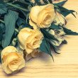Stock Photo: Roses table