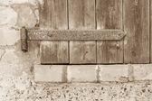 Old shutters Closeup — Stock Photo