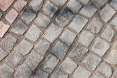 Gray cobblestones — Stock Photo