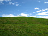 Grassy hill — Stock Photo