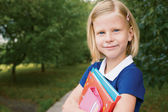 Portrait of cute schoolgirl — Stock Photo