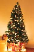 Presents under Christmas Tree — Stock Photo