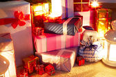 Christmas Presents Under Tree — Stock Photo