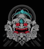 Böse maske — Stockvektor