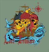 Vettore mondo pirata — Vettoriale Stock