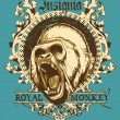 Royal monkey — Vector de stock