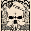 Vector de stock : Native skull