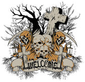 Welcome to cemetery — Stockvector