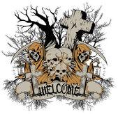добро пожаловать на кладбище — Cтоковый вектор