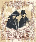 Antique fashion — Stock Vector