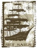 Set sails — Stock Vector