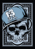 Hip hop skull — Vector de stock
