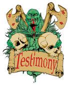 Testimony — Stock Vector